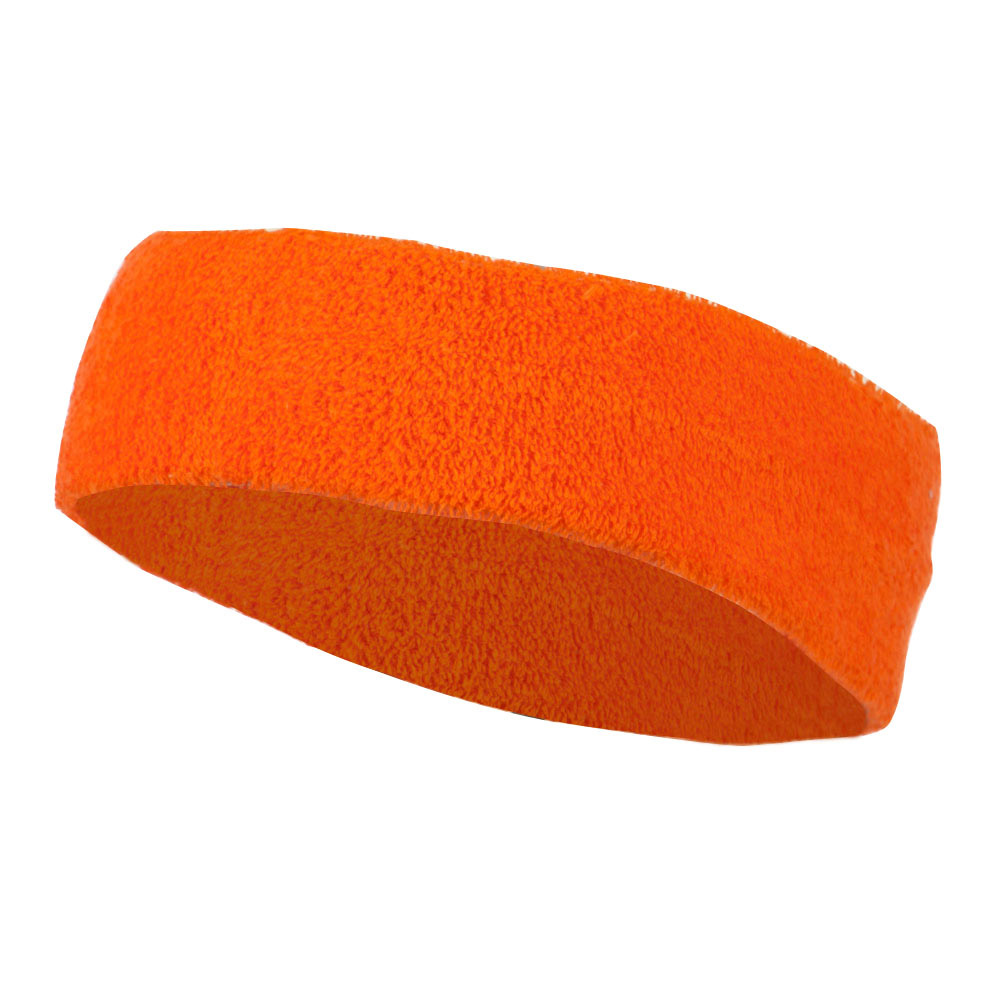 Big Size Cotton Sports Head Band - Orange - Hats and Caps Online Shop - Hip Head Gear