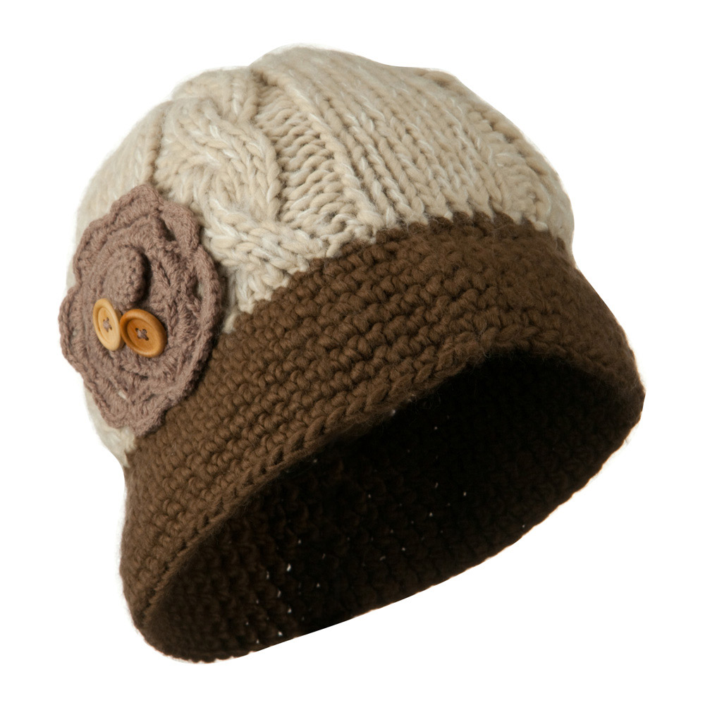 Woman's Bucket Shaped Beanie - Brown - Hats and Caps Online Shop - Hip Head Gear
