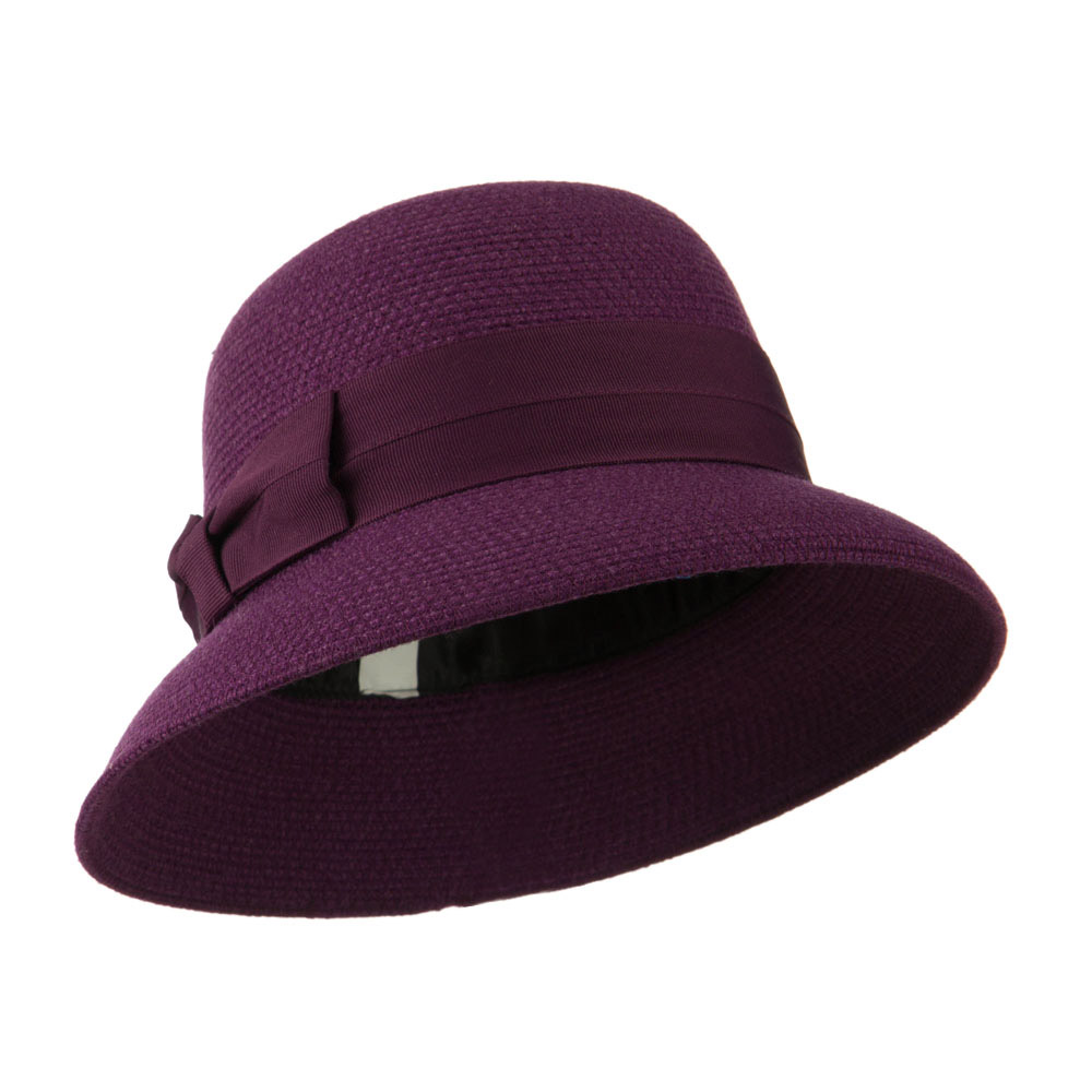 3 Inch Brim Bucket Shaped Wool Felt Cloche - Purple - Hats and Caps Online Shop - Hip Head Gear