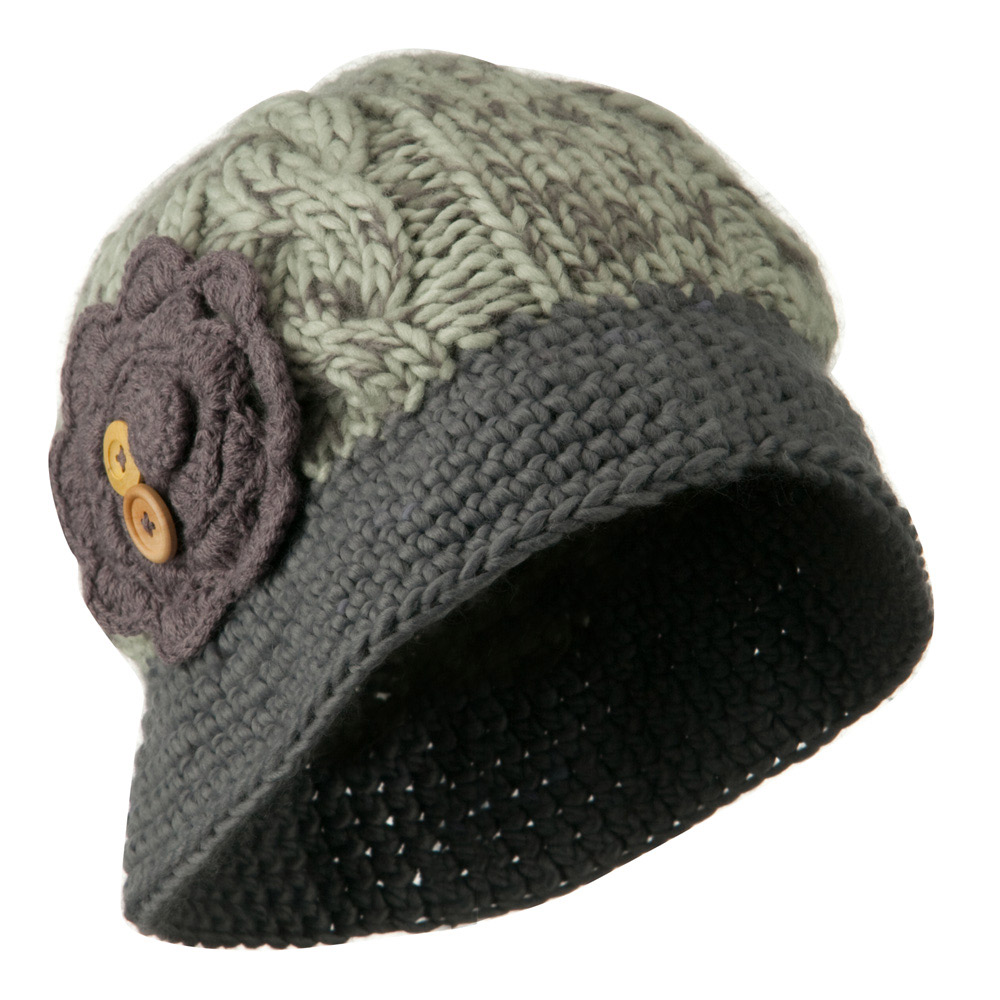 Woman's Bucket Shaped Beanie - Grey - Hats and Caps Online Shop - Hip Head Gear
