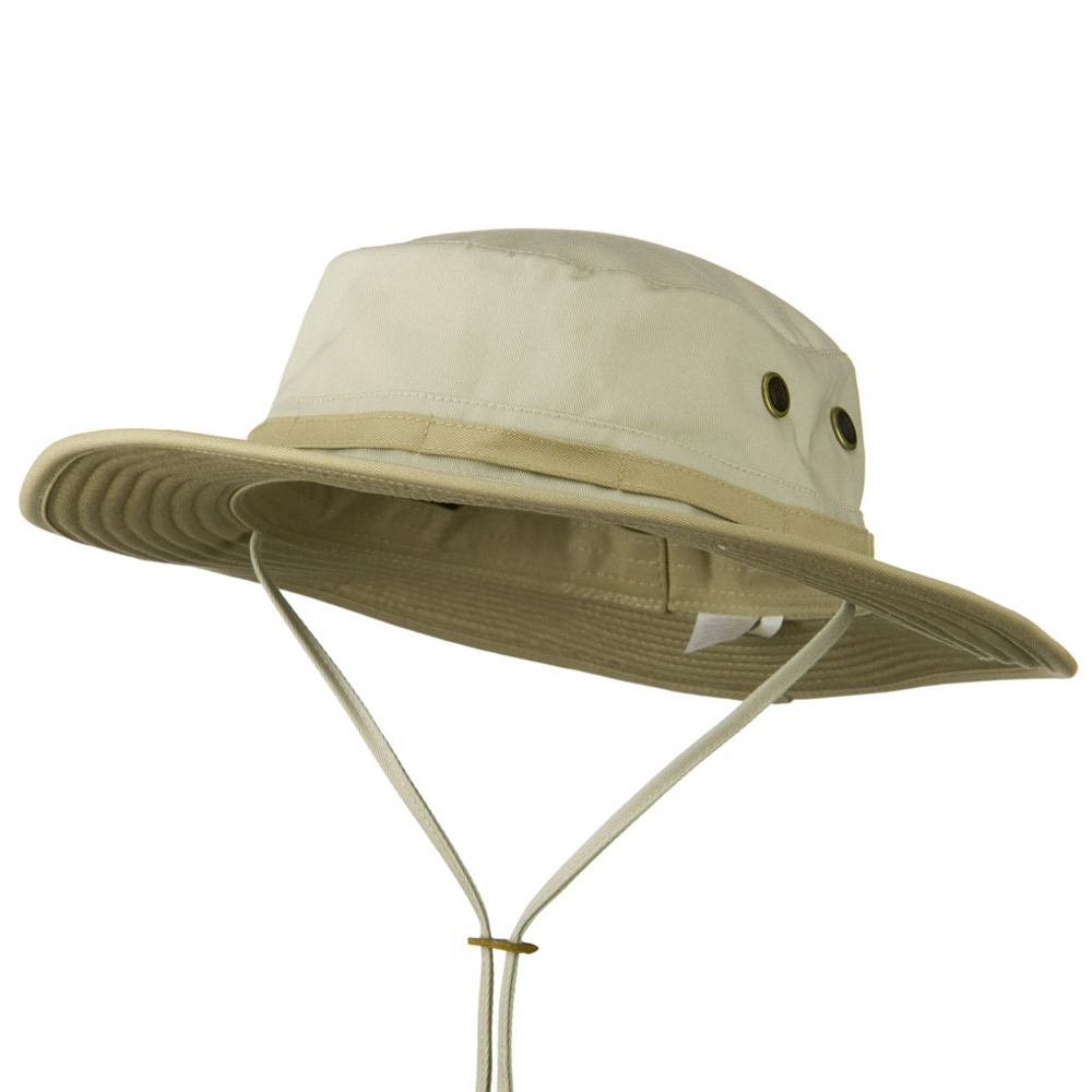 Big Size Pet Spun Bucket Hat with Chin Cord - Stone Khaki - Hats and Caps Online Shop - Hip Head Gear