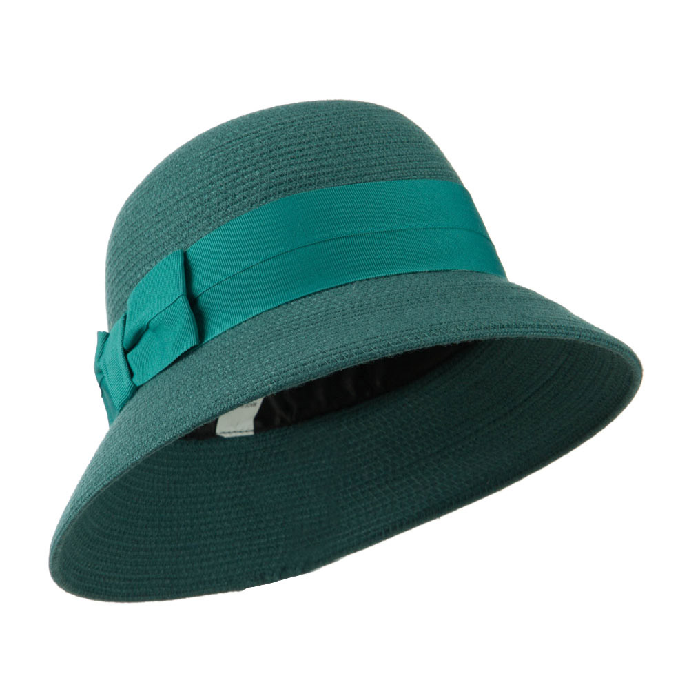 3 Inch Brim Bucket Shaped Wool Felt Cloche - Turquoise - Hats and Caps Online Shop - Hip Head Gear