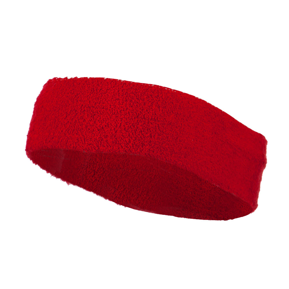 Big Size Cotton Sports Head Band - Red - Hats and Caps Online Shop - Hip Head Gear