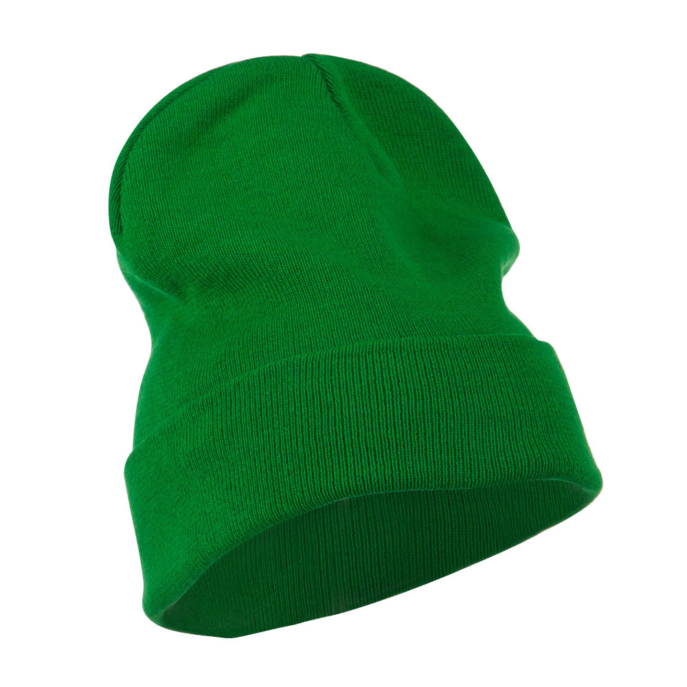 Big Size Superior Cotton Long Knitting Beanie-Kelly - Hats and Caps Online Shop - Hip Head Gear