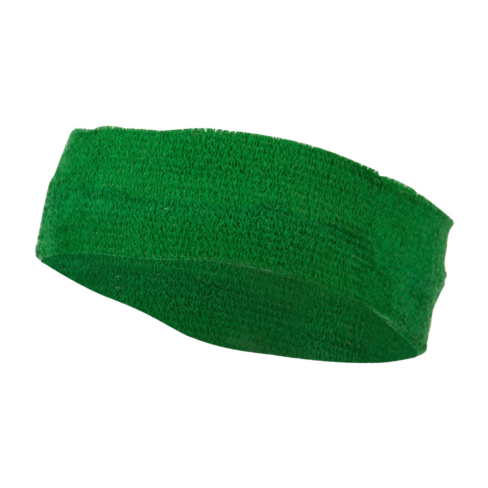 Big Size Cotton Sports Head Band - Green - Hats and Caps Online Shop - Hip Head Gear