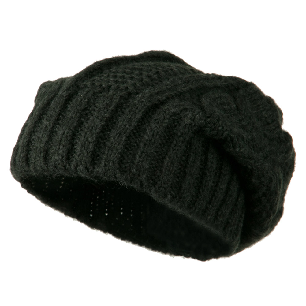 Big Skullie Cable Beanie - Grey - Hats and Caps Online Shop - Hip Head Gear