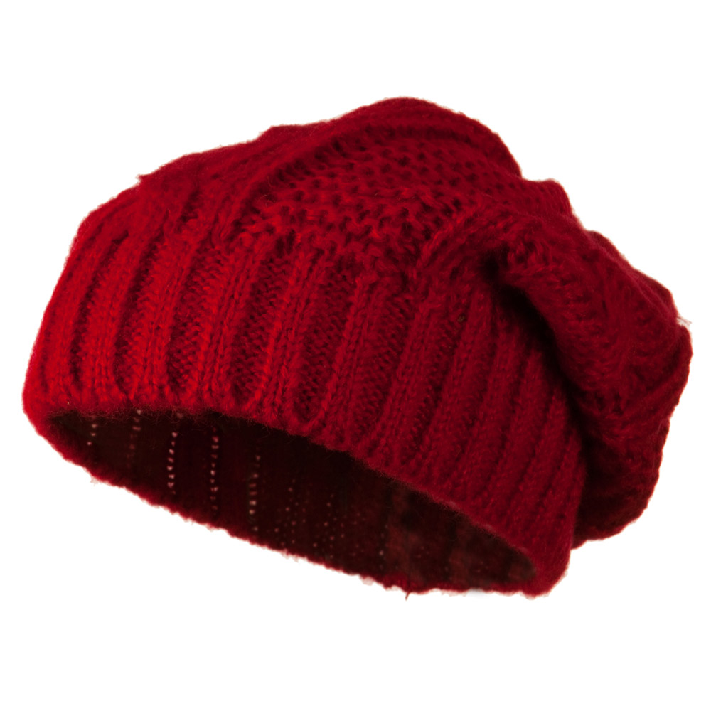 Big Skullie Cable Beanie - Red - Hats and Caps Online Shop - Hip Head Gear
