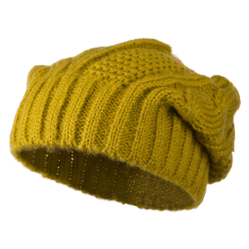 Big Skullie Cable Beanie - Mustard - Hats and Caps Online Shop - Hip Head Gear
