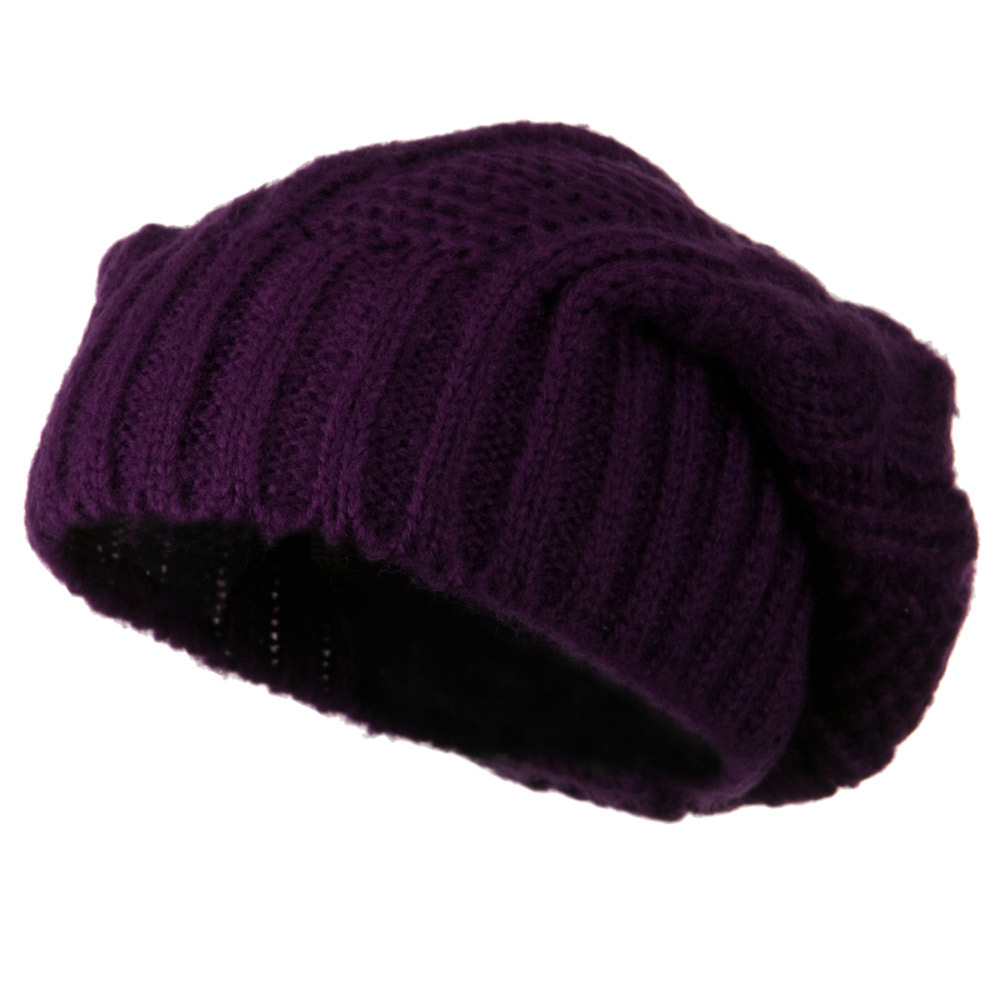 Big Skullie Cable Beanie - Purple - Hats and Caps Online Shop - Hip Head Gear