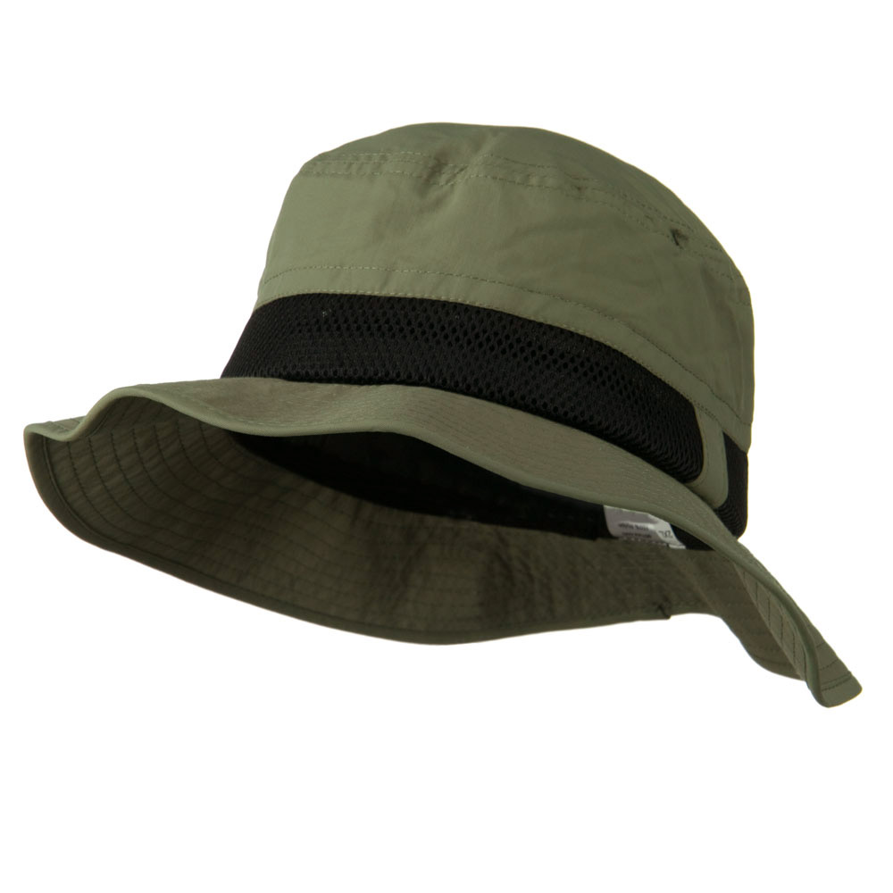Big Size Talson UV Bucket Hat with Side Mesh - Olive - Hats and Caps Online Shop - Hip Head Gear
