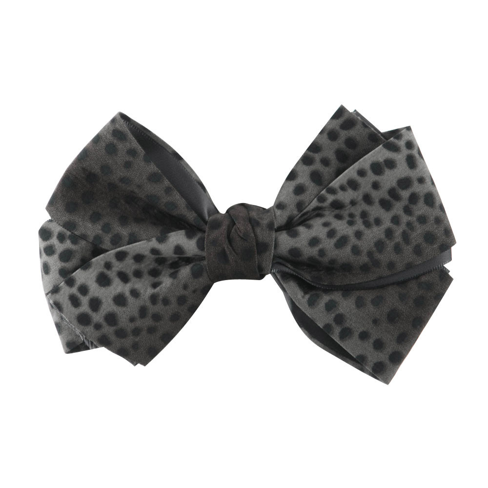 Women's Animal Print Bow Tie Pin Clip - Grey - Hats and Caps Online Shop - Hip Head Gear