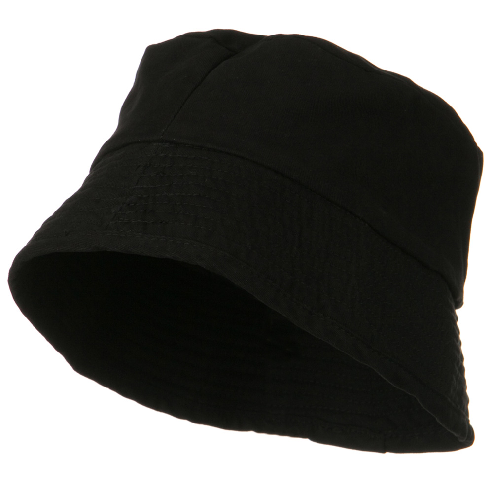 Big Size Washed Twill Fashion Hat - Black