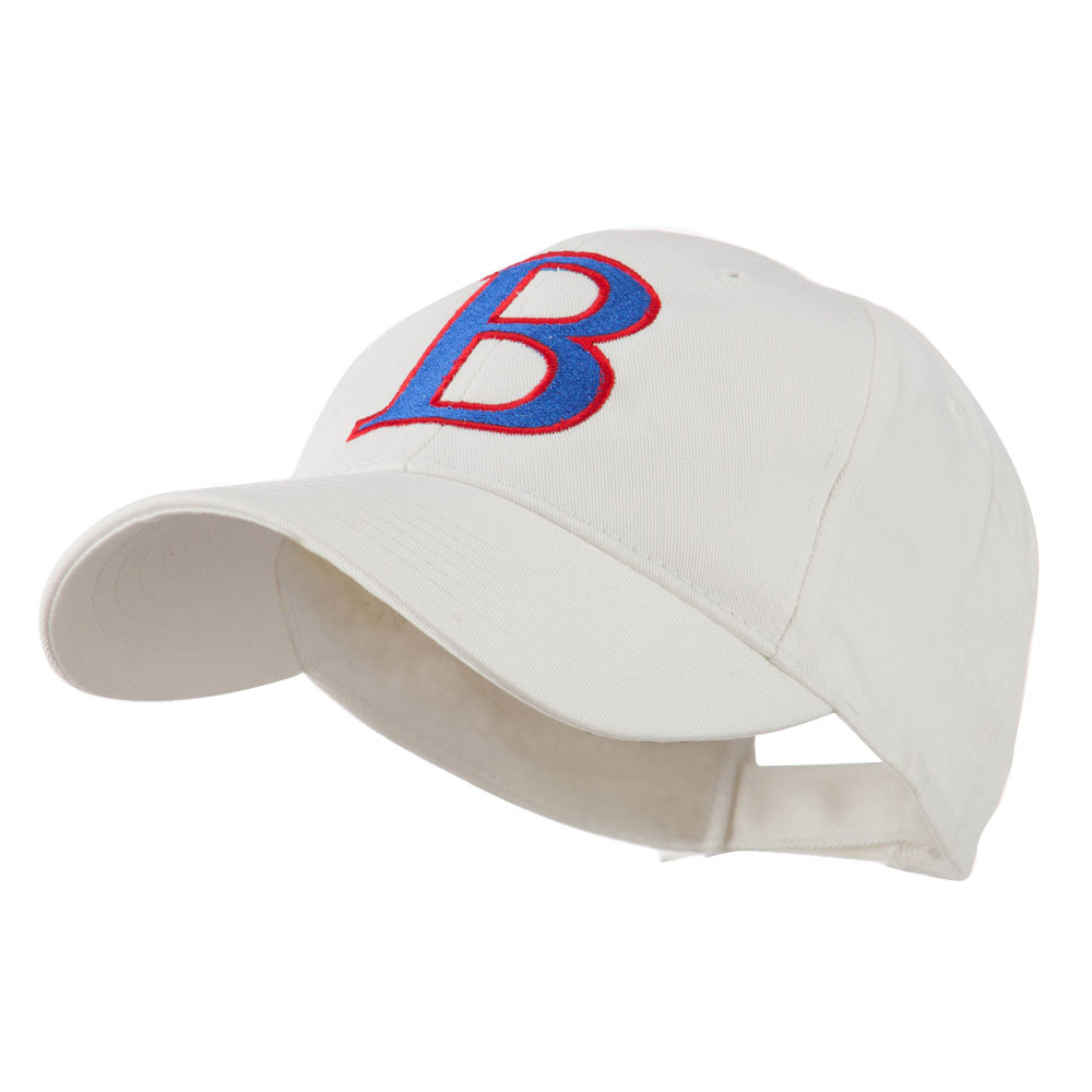 Greek Alphabet Beta Embroidered Cap - White - Hats and Caps Online Shop - Hip Head Gear