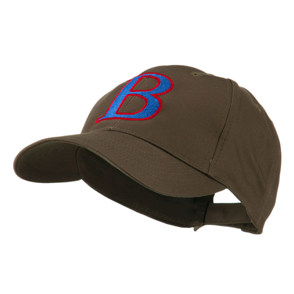 Greek Alphabet Beta Embroidered Cap - Brown - Hats and Caps Online Shop - Hip Head Gear