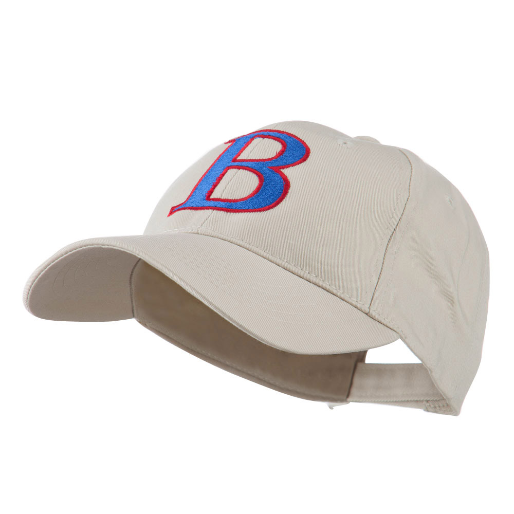 Greek Alphabet Beta Embroidered Cap - Stone - Hats and Caps Online Shop - Hip Head Gear