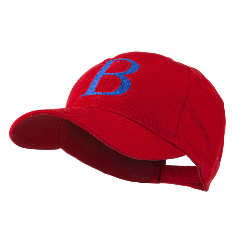 Greek Alphabet Beta Embroidered Cap - Red - Hats and Caps Online Shop - Hip Head Gear