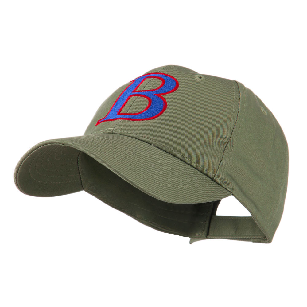 Greek Alphabet Beta Embroidered Cap - Olive - Hats and Caps Online Shop - Hip Head Gear