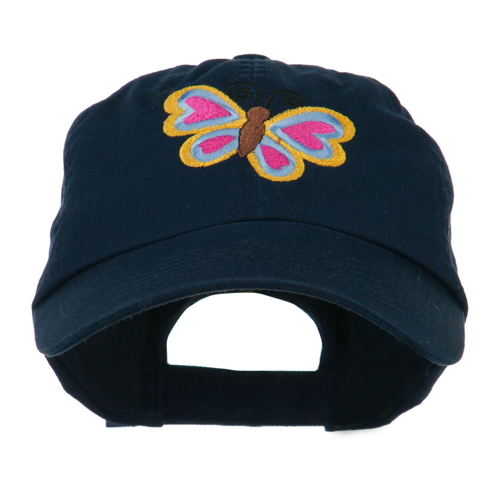 Butterfly Embroidered Cap - Navy - Hats and Caps Online Shop - Hip Head Gear