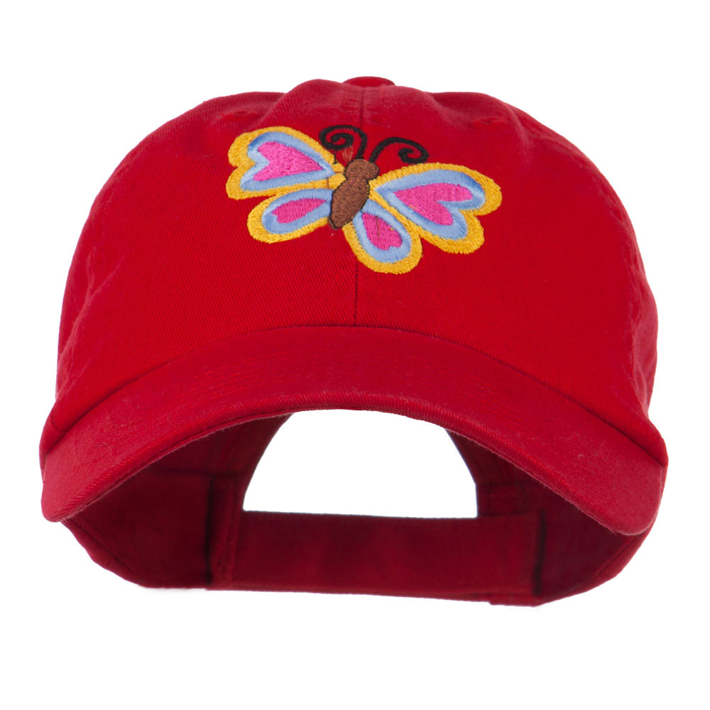 Butterfly Embroidered Cap - Red - Hats and Caps Online Shop - Hip Head Gear
