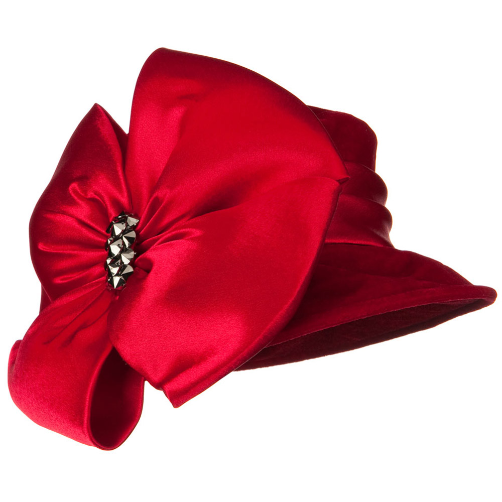 Big Bow Velvet Hat - Red - Hats and Caps Online Shop - Hip Head Gear