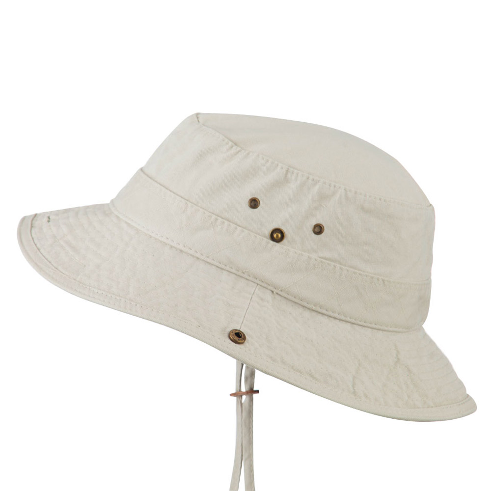 Big Size Camouflaged Brim Cotton Washed Bucket Hat - Putty - Hats and Caps Online Shop - Hip Head Gear