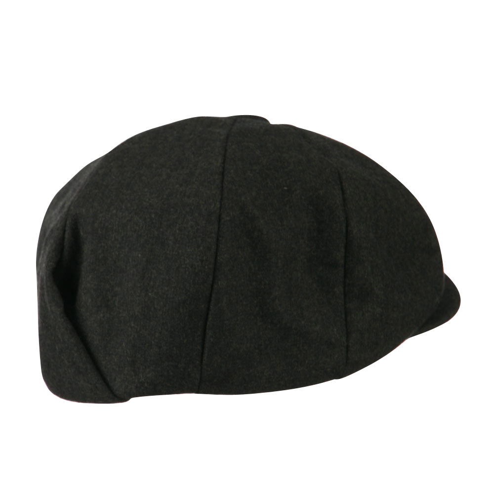 Big Wool Blend Newsboy Cap-Dk. Grey - Hats and Caps Online Shop - Hip Head Gear