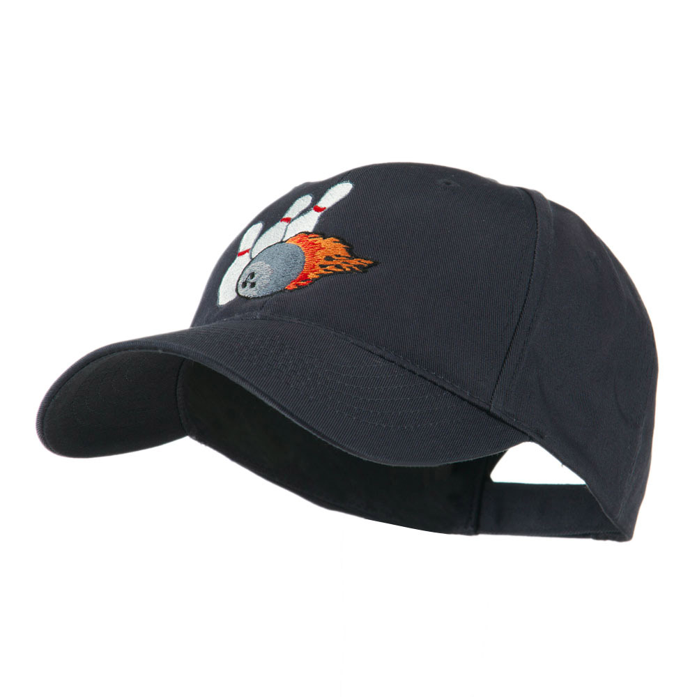Bowling Ball and Pins Embroidered Cap - Navy - Hats and Caps Online Shop - Hip Head Gear