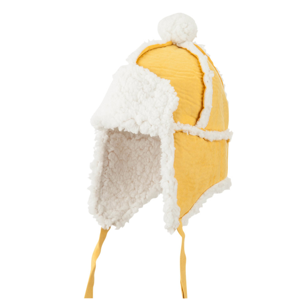 Boys' Pom Pom Polyester Trooper Hat - Mustard - Hats and Caps Online Shop - Hip Head Gear