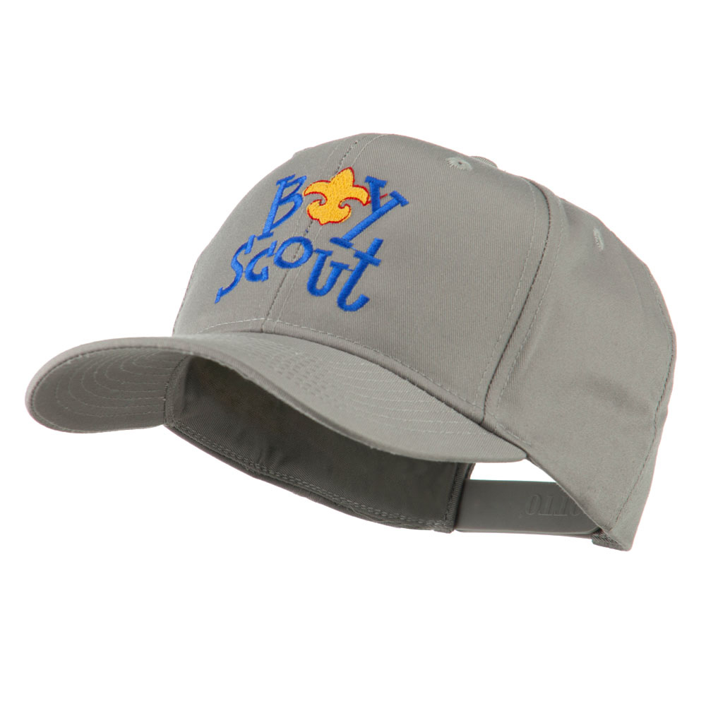Boy Scout Logo Embroidered Cap - Grey - Hats and Caps Online Shop - Hip Head Gear