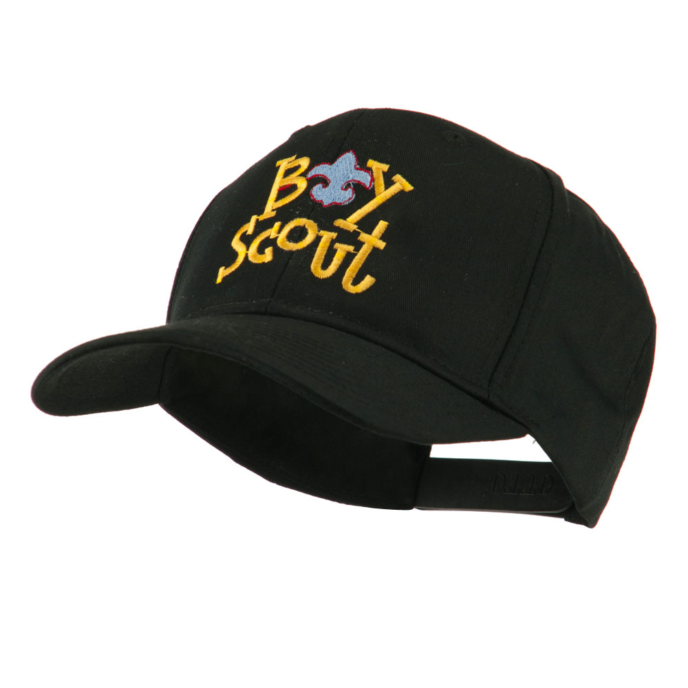 Boy Scout Logo Embroidered Cap - Black - Hats and Caps Online Shop - Hip Head Gear