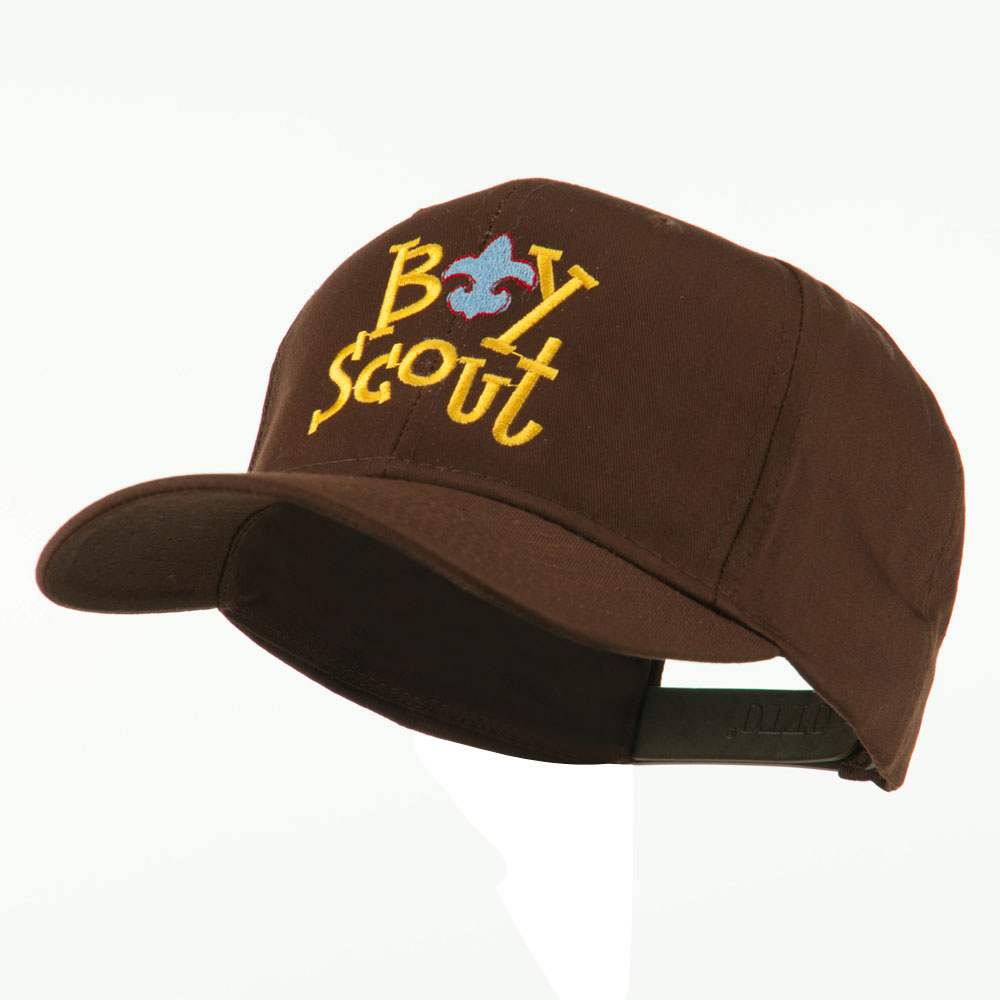 Boy Scout Logo Embroidered Cap - Brown - Hats and Caps Online Shop - Hip Head Gear