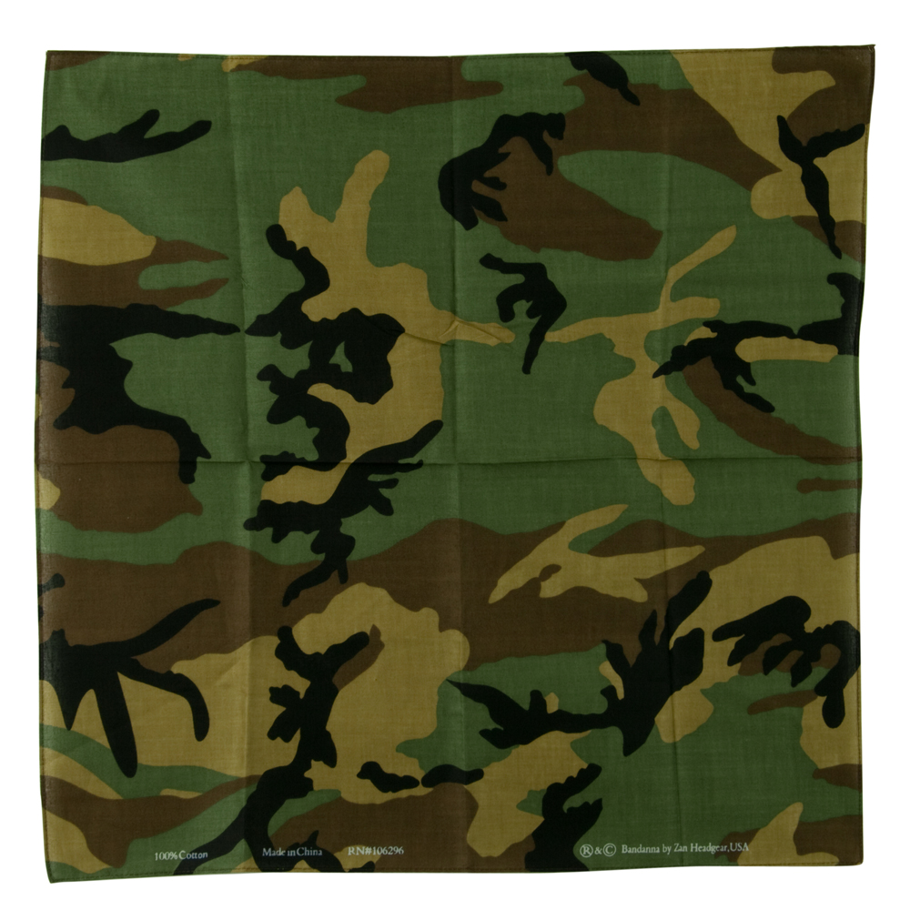 Camo Military Series Bandana - Woodland - Hats and Caps Online Shop - Hip Head Gear