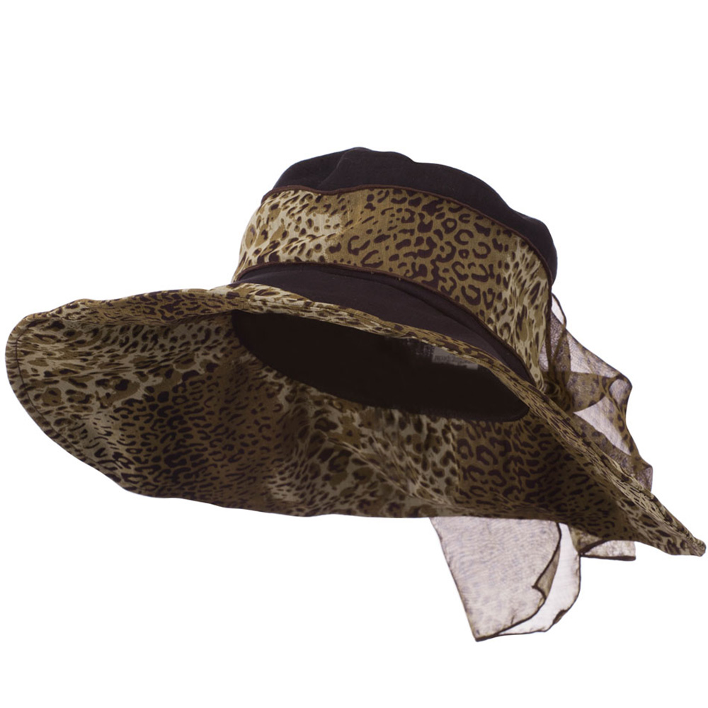 Crushable Animal Print Hat with Wide Brim - Black - Hats and Caps Online Shop - Hip Head Gear