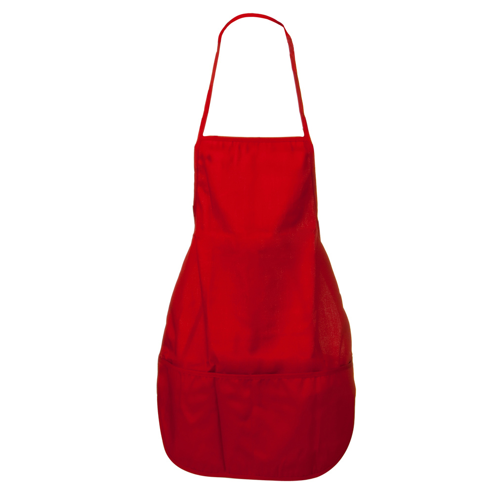 Solid Chef's Apron - Red