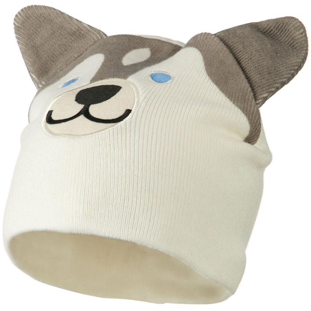 Cute Animal Beanie - Huskey - Hats and Caps Online Shop - Hip Head Gear