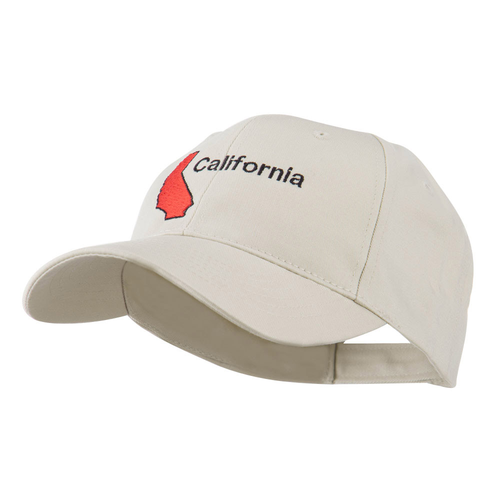 California Image with Wording Embroidered Cap - Stone - Hats and Caps Online Shop - Hip Head Gear