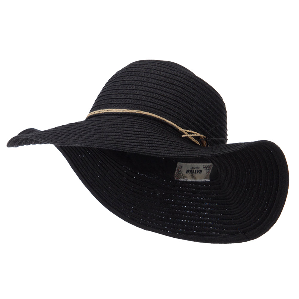 Coconut Band Floppy Hat - Black - Hats and Caps Online Shop - Hip Head Gear