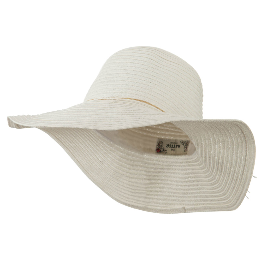 Coconut Band Floppy Hat - White - Hats and Caps Online Shop - Hip Head Gear