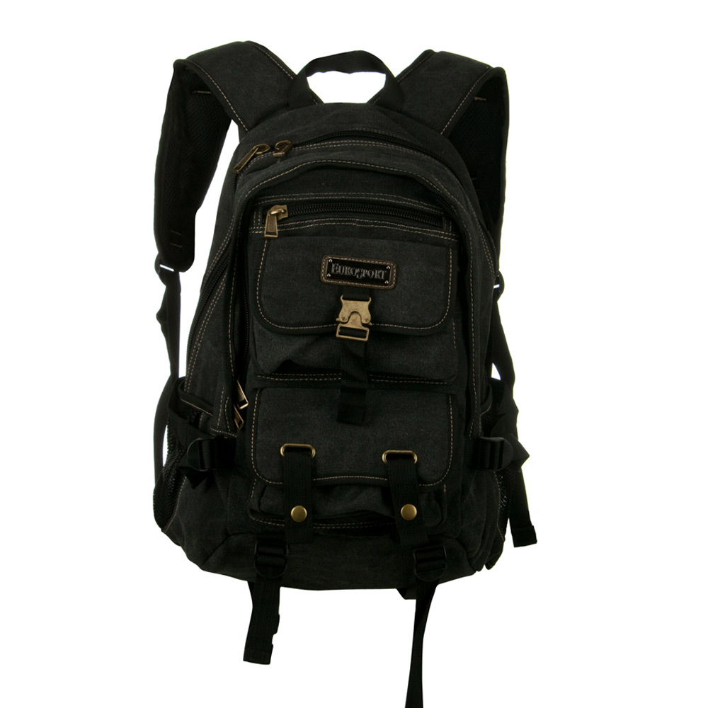 Canvas Backpack - Black