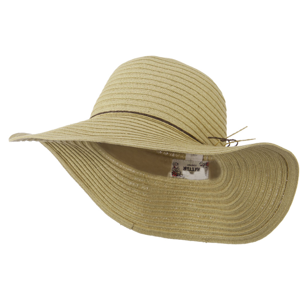 Coconut Band Floppy Hat - Natural - Hats and Caps Online Shop - Hip Head Gear