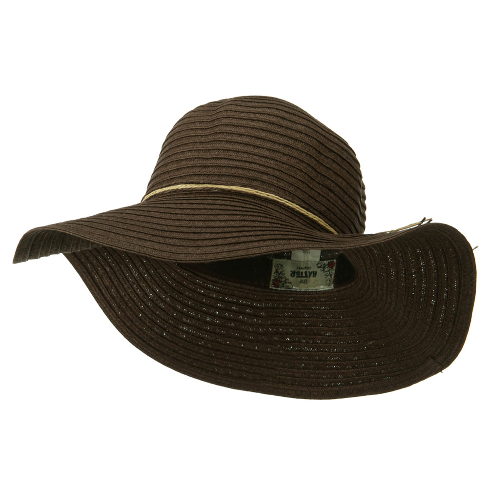 Coconut Band Floppy Hat - Brown - Hats and Caps Online Shop - Hip Head Gear