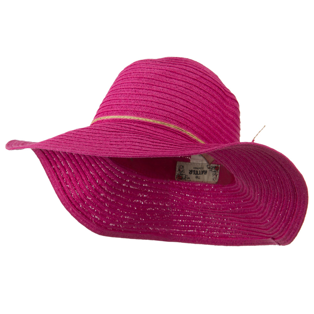 Coconut Band Floppy Hat - Fuchsia - Hats and Caps Online Shop - Hip Head Gear