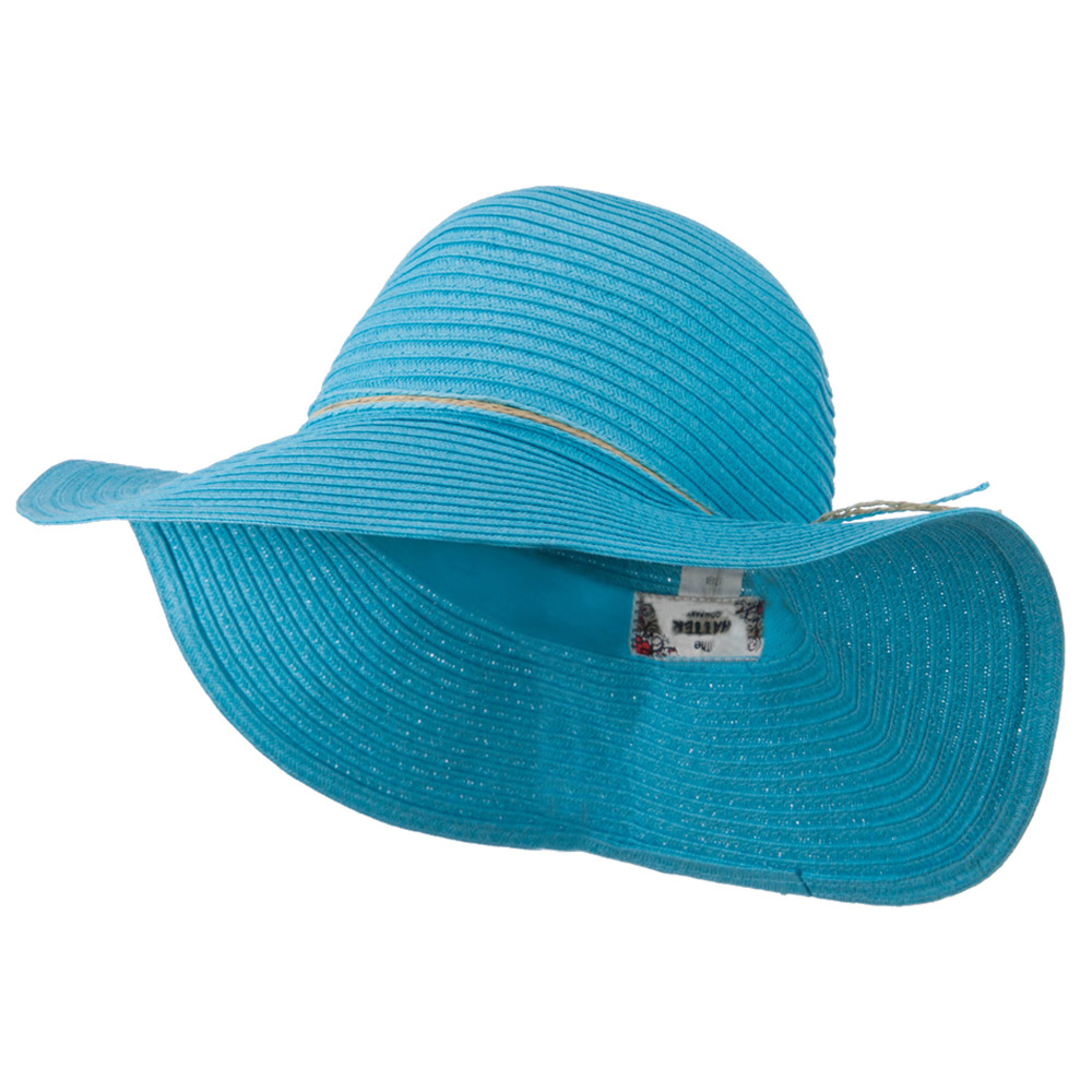 Coconut Band Floppy Hat - Turquoise - Hats and Caps Online Shop - Hip Head Gear