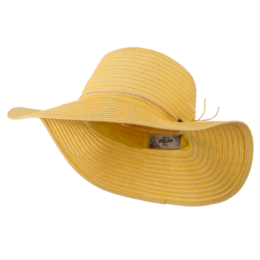 Coconut Band Floppy Hat - Yellow - Hats and Caps Online Shop - Hip Head Gear
