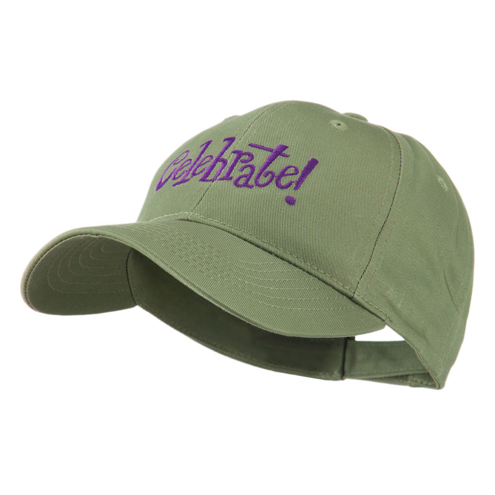 Celebrate Wording Embroidered Cap - Olive - Hats and Caps Online Shop - Hip Head Gear