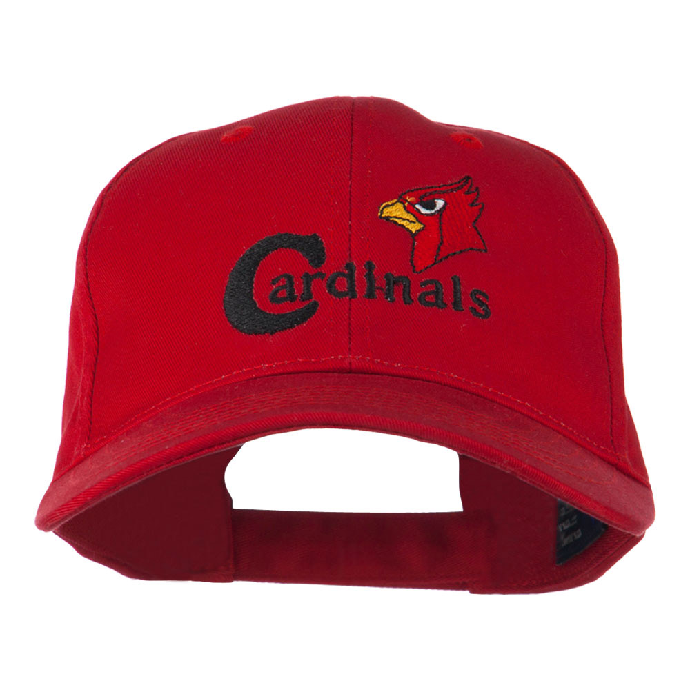 Cardinals with Bird Head Embroidered Cap - Red - Hats and Caps Online Shop - Hip Head Gear