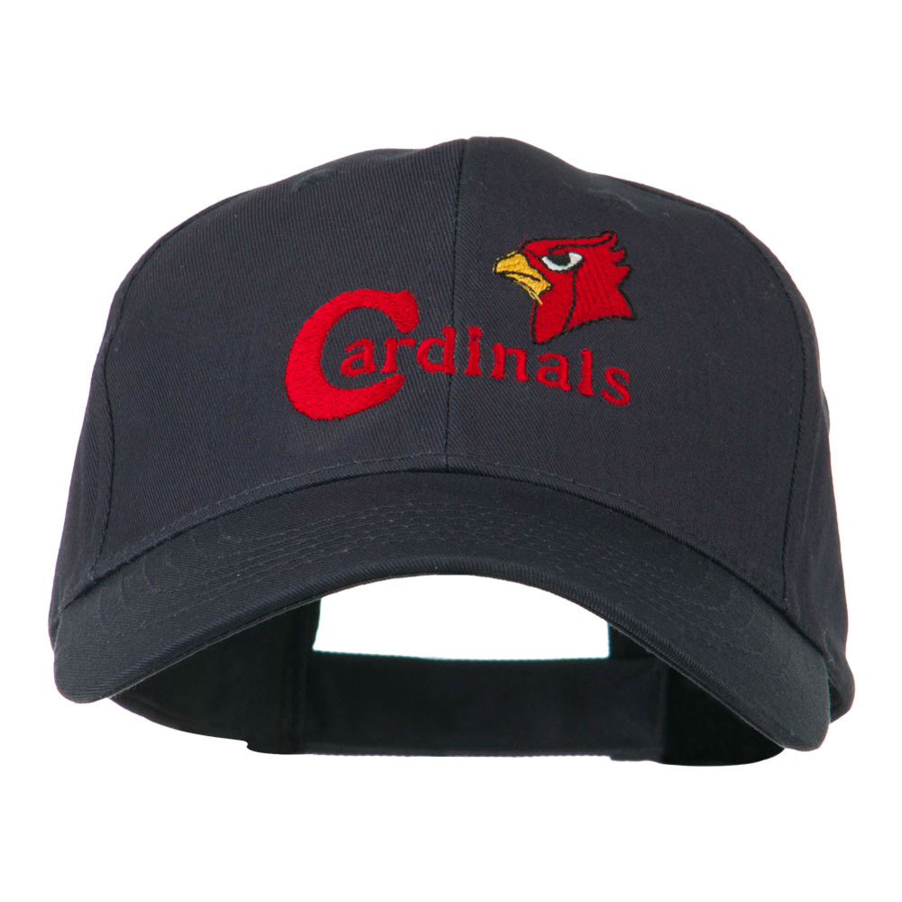 Cardinals with Bird Head Embroidered Cap - Navy - Hats and Caps Online Shop - Hip Head Gear