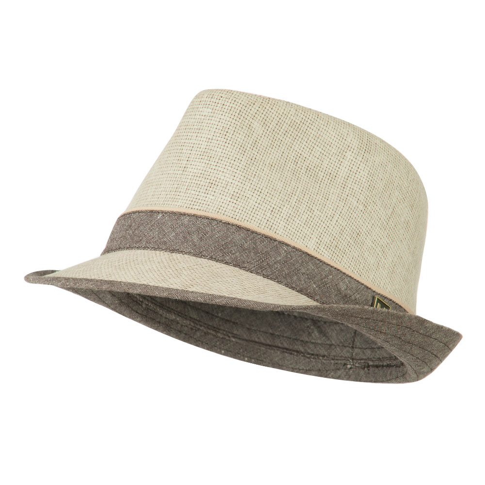 Children's Poly Cotton Fedora Hat - Beige Taupe - Hats and Caps Online Shop - Hip Head Gear