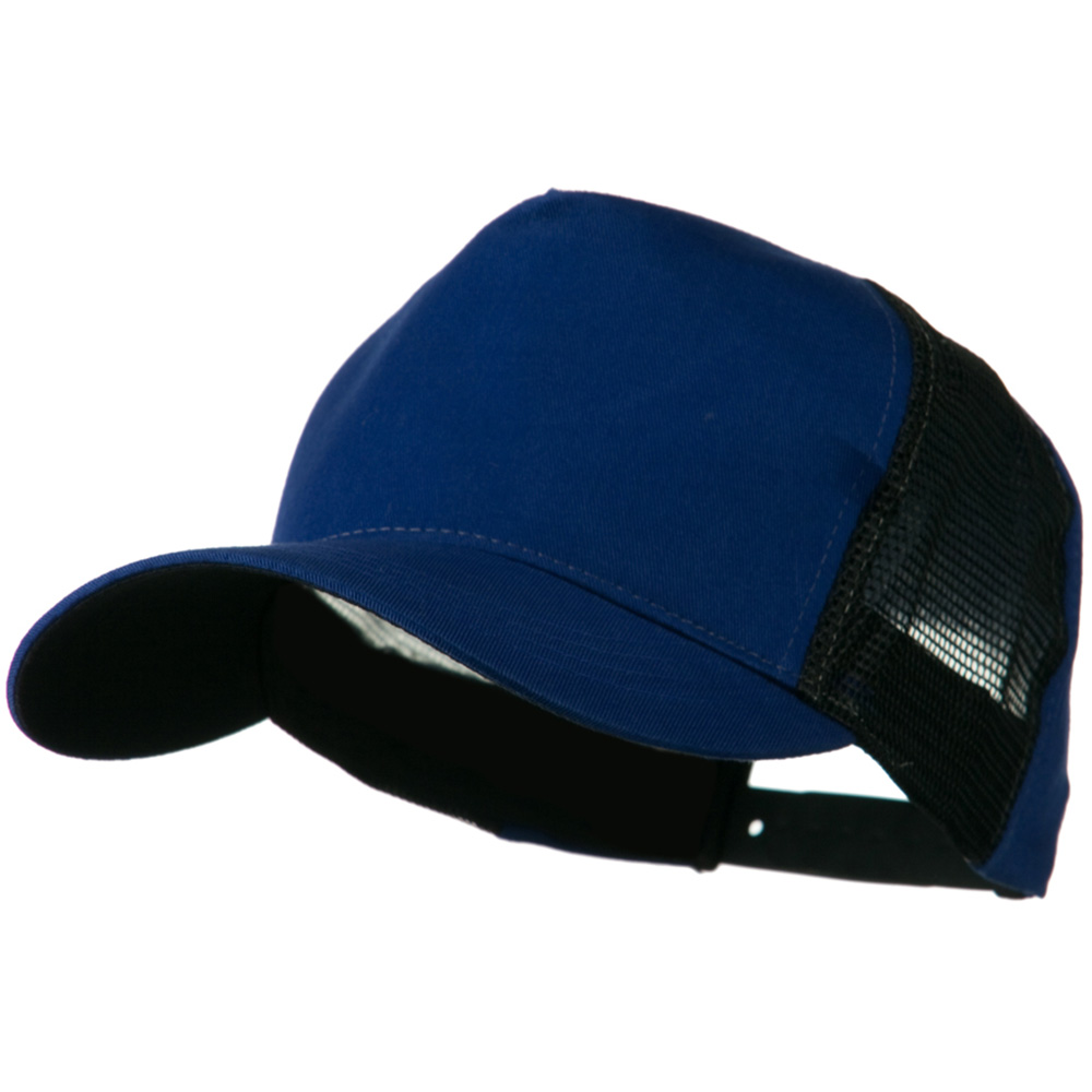 Cotton Cap With Two Side Mesh Panel - Royal Black - Hats and Caps Online Shop - Hip Head Gear