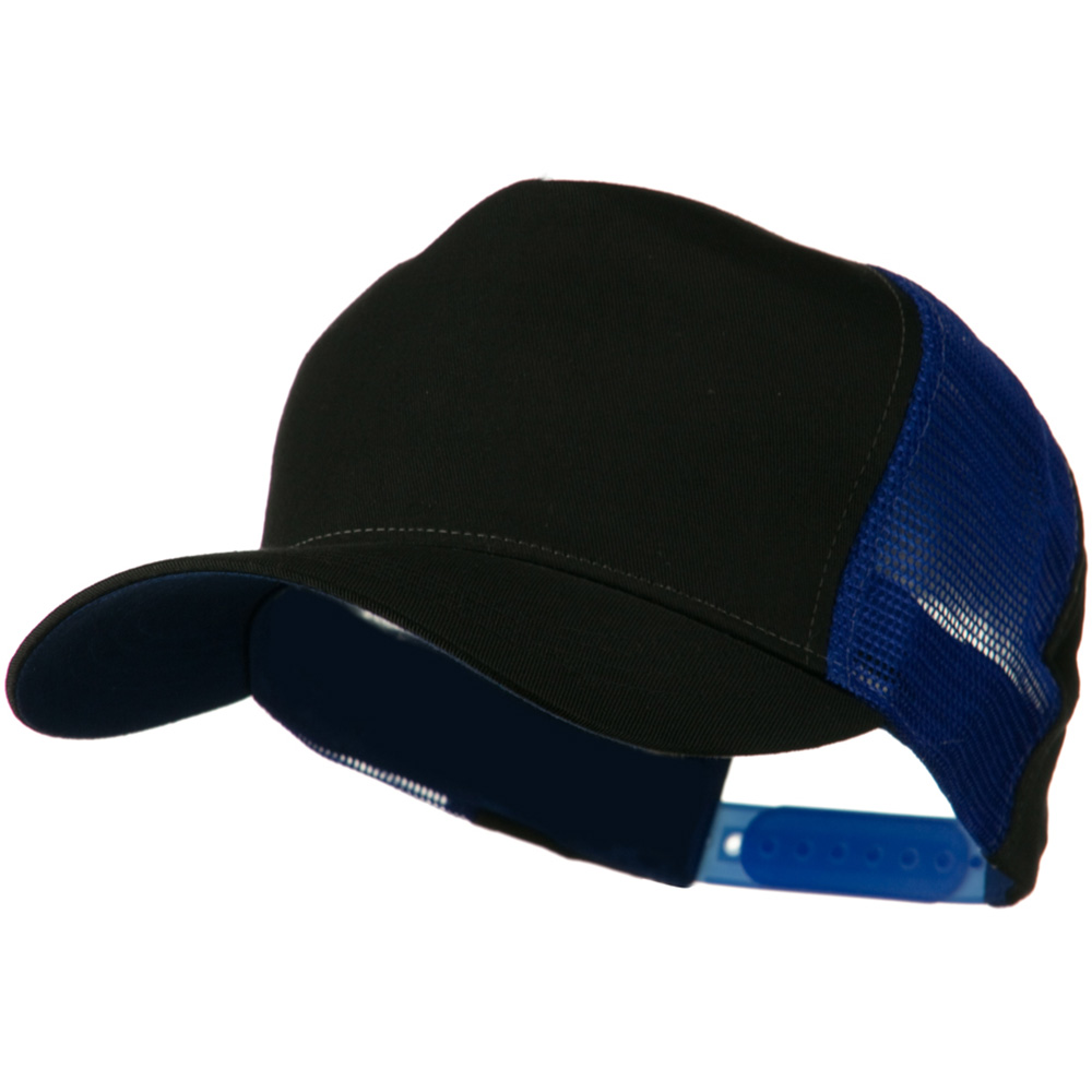 Cotton Cap With Two Side Mesh Panel - Black Royal - Hats and Caps Online Shop - Hip Head Gear